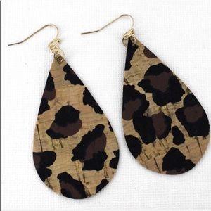 Leopard Cheetah Print Dangle Earrings Trendy!!